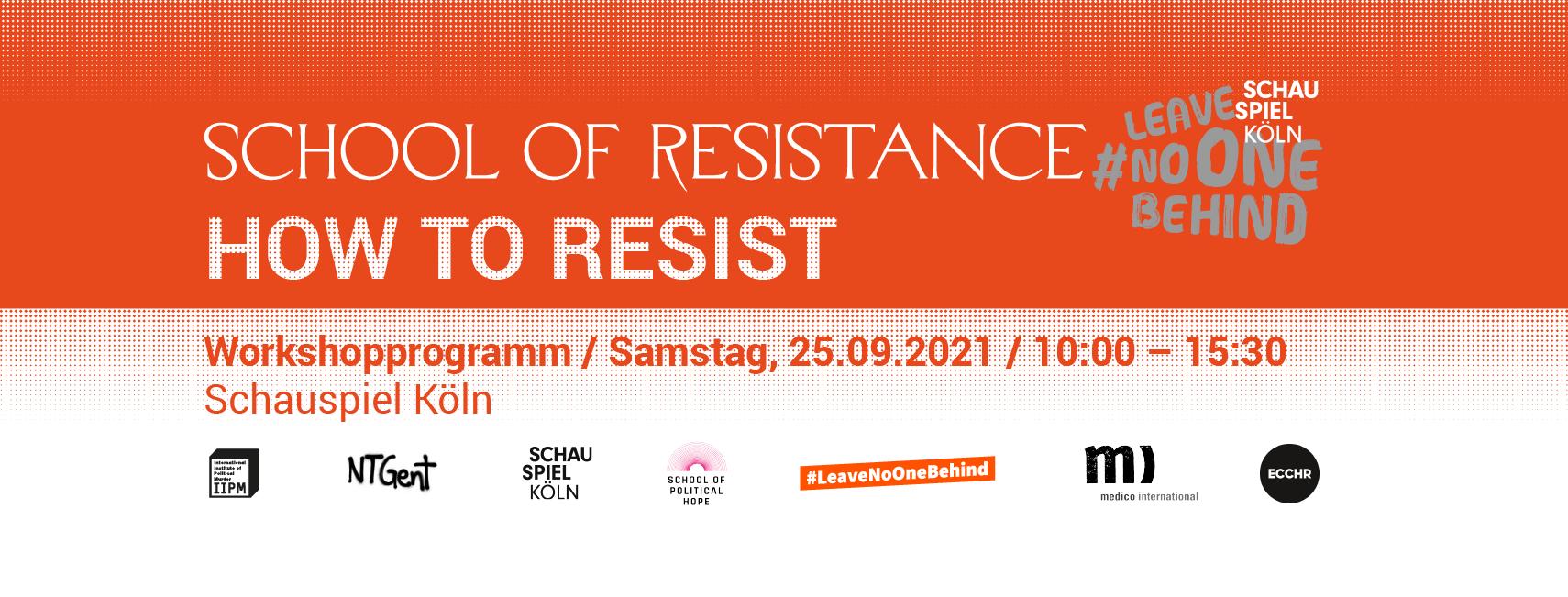 »School of Resistance«: Menschenrechte sind #unverhandelbar